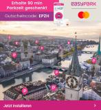 [lokal ZH] gratis CHF 5+3 Parkwert bei easypark für Neukunden mit Mastercard