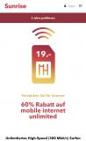 Sunrise unlimited Data-Abo (nur Daten, keine Gespräche) bis zu 300 MB/s Speed + 1 GB Roaming