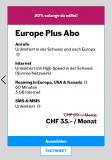 Lebara Europe Plus Abo zum ½ Preis. 35 statt 69 CHF