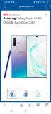 SAMSUNG Galaxy Note10+ 5G, 256GB, Aura Glow oder Black