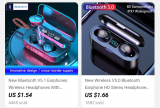 Bluetooth Headset Earphones bei AliExpress