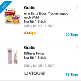 GRATIS Produkte in der Supercard App (Coop)