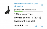 Nvidia Shield tv non pro 129.- Galaxus