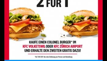 [Volketswil/ZRH] 2 für 1 Colonel Burger bei KFC