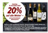 Denner: 20% auf alle Weine*, nur Sa/So, 19. +20.12.2020
