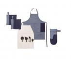 5-teiliges Küchentextil-Set in skandinavischen Design und feinem Denim-Stoff bei galaxus mit 67 % Rabatt