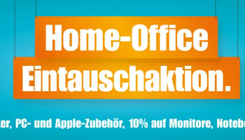 Home-Office Eintauschaktion bei melectronics mit 10 % auf Monitore, Notebooks und PC sowie 20 % auf Drucker, PC- und Apple-Zubehör