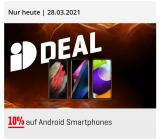 10% auf Android-Smartphones bei Interdiscount (zusätzlich – CHF 15.-)