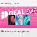 10% auf alle Android Smartphones bei Interdiscount