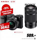 SONY Alpha 6000 + 16-50mm + 55-210mm – Systemkamera (Fotoauflösung: 24.3 MP) Schwarz