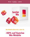 Sunrise We Mobile Abos 50% Aktion für 24 Monate