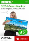 32-Zoll-Smart-Monitor FullHD, Samsung LS32AM500NRXEN