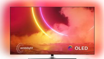 Philips 65OLED855 (Ambilight, Android TV, schwenkbarer Bildschirm, OLED) bei MediaMarkt