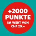Manor: 2000 Treuepunkte geschenkt ab einem Einkauf von 100 Franken