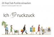 UBS: 20 KeyClub Punkte UBS Kredit- oder Prepaid für Zahlung je 2x Laden/online