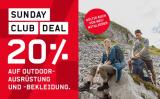 Nur heute – Ochsner Sport Sunday Club Deal – 20% Rabatt auf Outdoor-Ausrüstung und Bekleidung