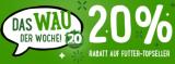 20% Rabatt auf Futter-Topseller bei Zooplus