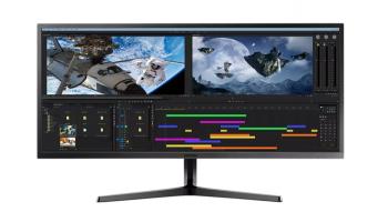 SAMSUNG LS34J550WQUXEN UWQHD Business Monitor (PBP/PIP, 300 Nits, 75Hz, 16.7M Farben) bei Mediamarkt