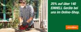 Migros Do It + Garden: 25% Rabatt auf ausgewählte Einhell-Geräte – kleiner Sammeldeal