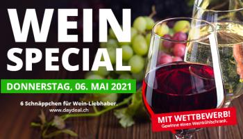 Wein Special bei DayDeal (nur heute, 6 Deals)
