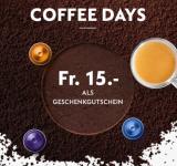 Nespresso: 15.- Gutschein beim Kauf von 250 Kaffees oder 25.- beim Kauf von 350 Kaffees