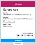 Lebara Europe derzeit für CHF 19.-/Monat