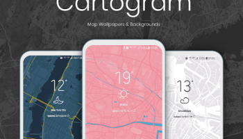 Android: Cartogram – Live Map Wallpapers & Backgrounds gratis