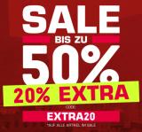 Snipes: bis zu 50% Sale + 20% Extra mit Gutscheincode