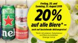 Nur heute: 20% auf alle Biere (auch Aktionspreise) bei Denner