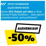 50% auf alles im Conrad Dietlikon (OFFLINE, nur was vor Ort ist)