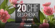 CHF 20.- ab CHF 100.- Rabatt bei Jeans.ch (bis 23.03.)