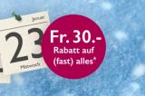 30.- ab MBW 100.- Rabatt bei Orell Füssli