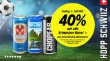 Nur am Freitag 2. Juli: 40% Rabatt auf alle Schweizer Biere (auch auf Aktionen)!