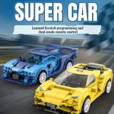 CaDa RC Spielzeug-Autos – blau (325 T.) und gelb (289 T.)
