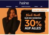 30% auf das gesamte Sortiment bei Heine