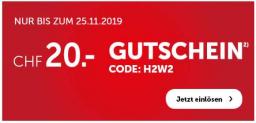CHF 20.- Rabatt ab CHF 50.- bei Cornelia (bis 25.11.)