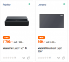 Xiaomi Mi 4K Laser Projector 150″ + Xiaomi Mi Ambient Light 100″ Leinwand bei melectronics