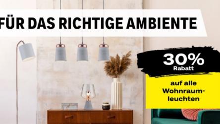 30% auf Wohnraum-Leuchten bei coop bau+hobby – viele Bestpreise