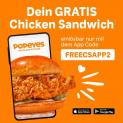 Popeyes: Gratis Chicken Sandwich in Pfäffikon ZH (oder überall?)