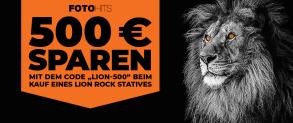 Rollei Lion Rock Stative -500€ Gutschein – z.B. Rollei Lion Rock Traveler S Black Edition für 226,06 € (zzgl. Zoll- + Verzollungskosten)