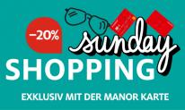 Manor Sunday Shopping – 20% Rabatt auf ausgewählte Kategorien mit der Manor Karte, nur heute