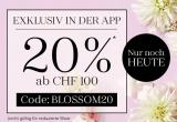 20% ab CHF 100.- in der Douglas App (nur heute)