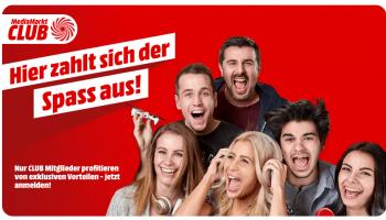 MediaMarkt: Club-Gutschein für 15 Franken einlösbar ab MBW 75 Franken für Neukunden