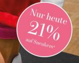 21% Rabatt auf alle Sneaker bei Vögele Shoes (nur heute)