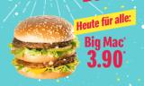 Nur heute: Big Mac für CHF 3.90