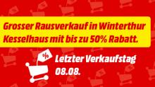 Info: Rausverkauf im Mediamarkt Kesselhaus Winterthur (-50% versprochenen Rabatt)