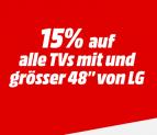15% Rabatt auf alle >48 Zoll Fernseher von LG bei Media Markt