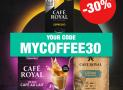 30% auf das gesamte Sortiment bei CAFE ROYALE (nur dieses Wochenende bis 17.08.)