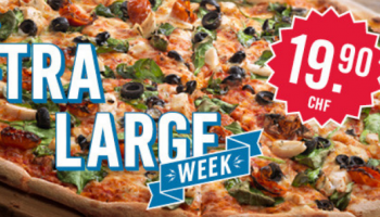 XL-Week bei Domino's – Alle 40cm Pizzen für CHF 19.90