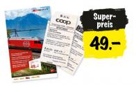 Spezial-Tageskarte: Einen Tag durch die Schweiz fahren für CHF 49.- (ab 16.08. bis 12.09.)